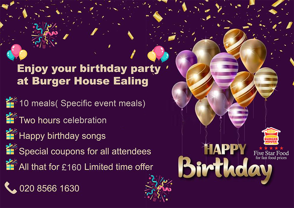 Birthday party Burger House Ealing London logo